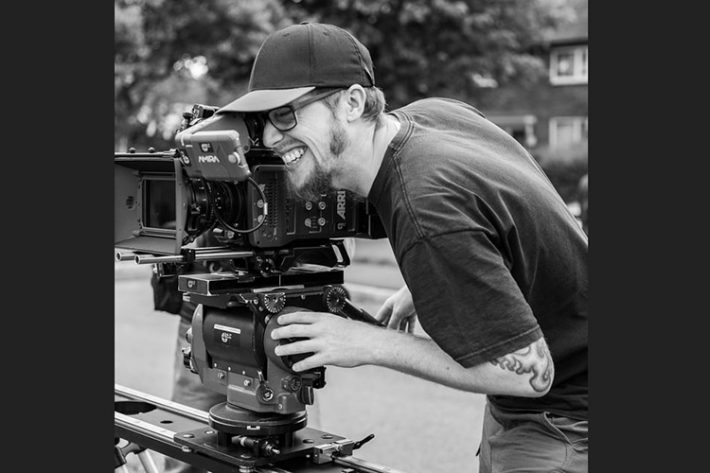 Once Bitten... cinematographer Mat Johns on the set of his award-winning short A Father's Day