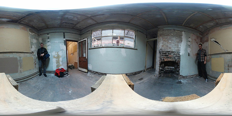 360 degree image of the Once Bitten... set before we started work