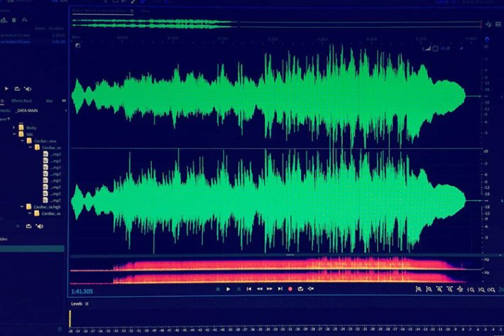 Once Bitten: The audio waveform for the theme tune to Horror Or Hokum? written by Thurston Thomson