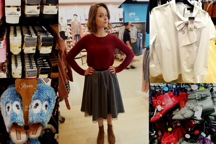 Shopping for Matha Swales' wardrobe with our lead actor Lauren Ashley Carter