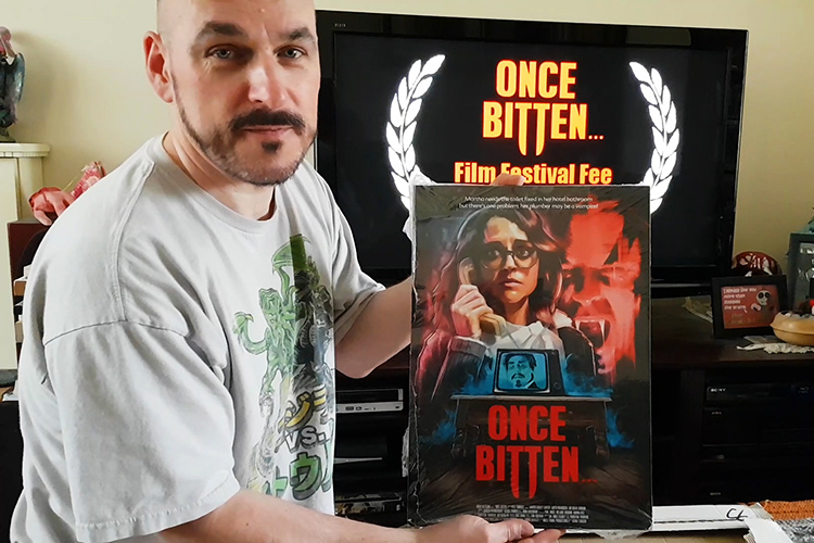 Once Bitten... director Pete Tomkies unveils the Once Bitten... poster!