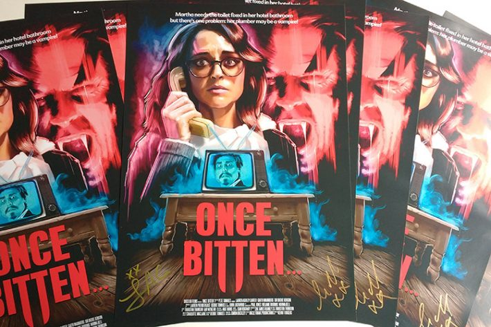 Once Bitten... posters signed by Lauren Ashley Carter and Garth Maunders