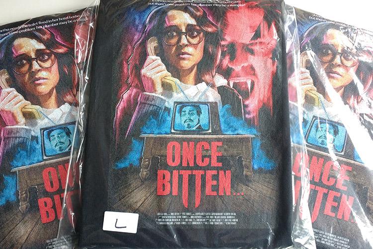 Once Bitten... Film Festival Fee Fundraiser sponsor t-shirts